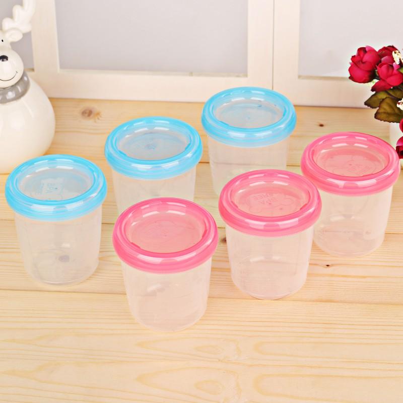 2 Colors Baby Food Storage Cup Breast Milk Fruit Juice Storage Seal Preservation Cups Box Melkpoeder Doosjes 180ml