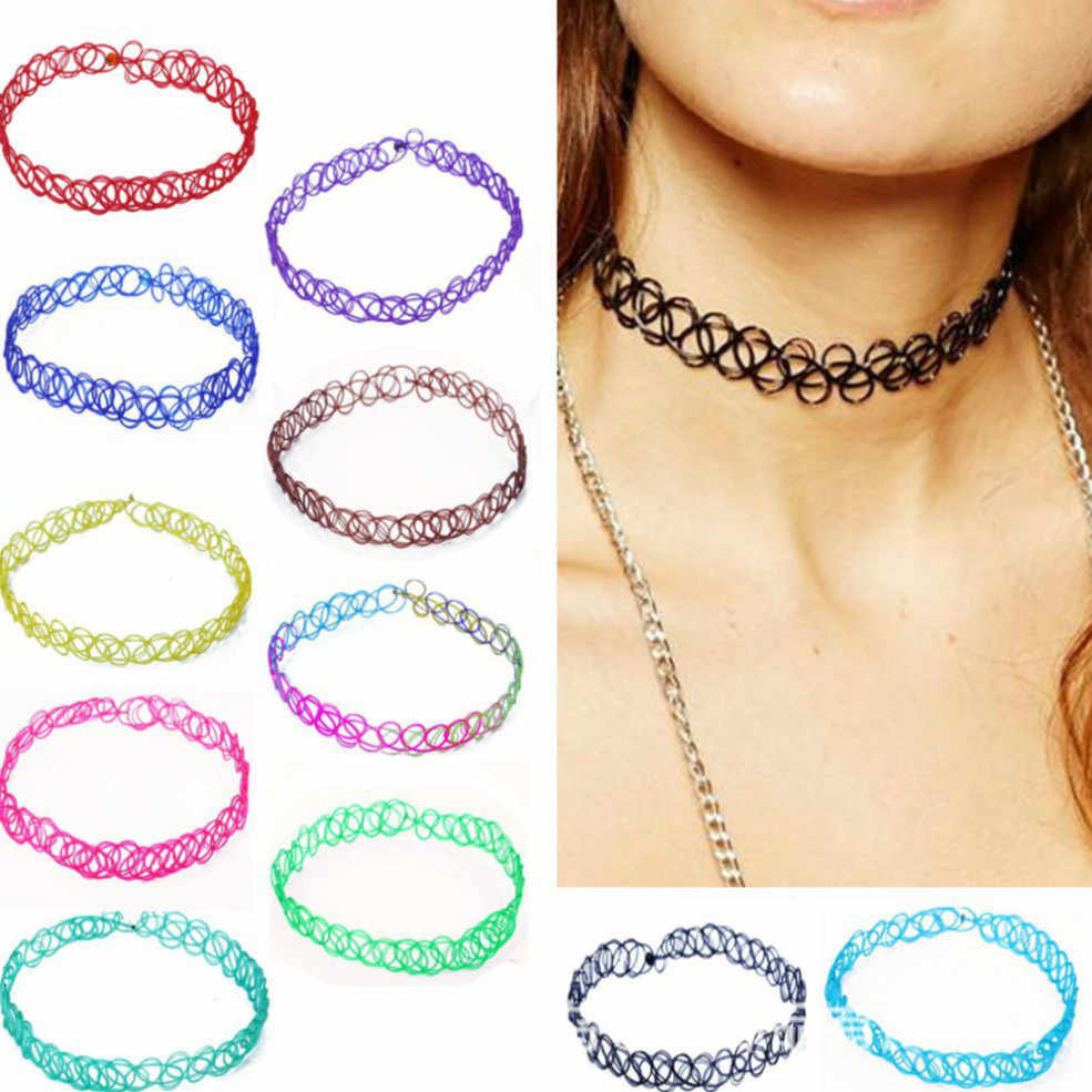 1pcs Sell New Choker Necklaces Colorful Chokers Holiday Seaside Resort Beach Jewelry Water Drop Circular Cobwebbing Clavicle