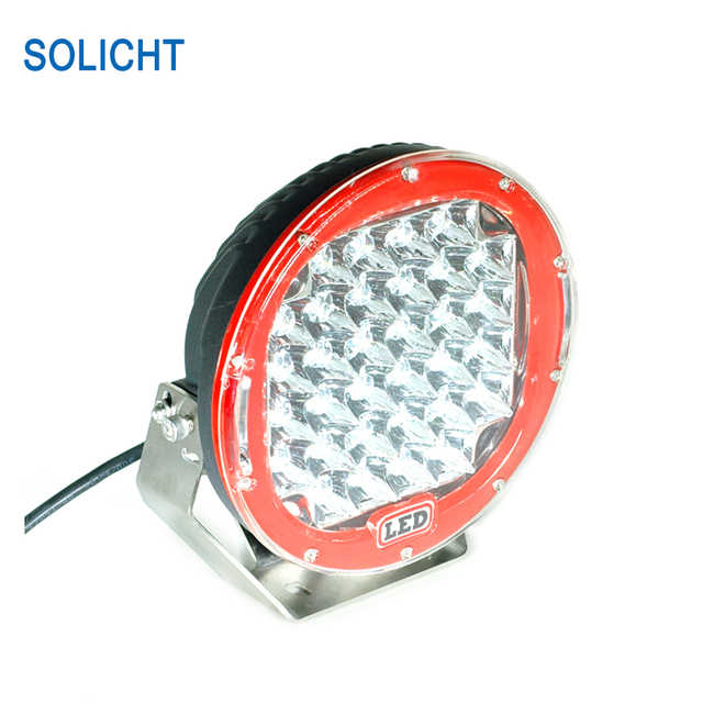 Solicht 9 inch 96w led work light bar off road car 12v round high solicht 9 inch 96w led work light bar off road car 12v round high power 8160lm mozeypictures Choice Image