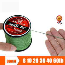 300M Super Strong Multifilament Braided Fishing line 4 strands weaves Janpan PE material Fishing Wire 10lb 20lb 30lb 40lb 60lb