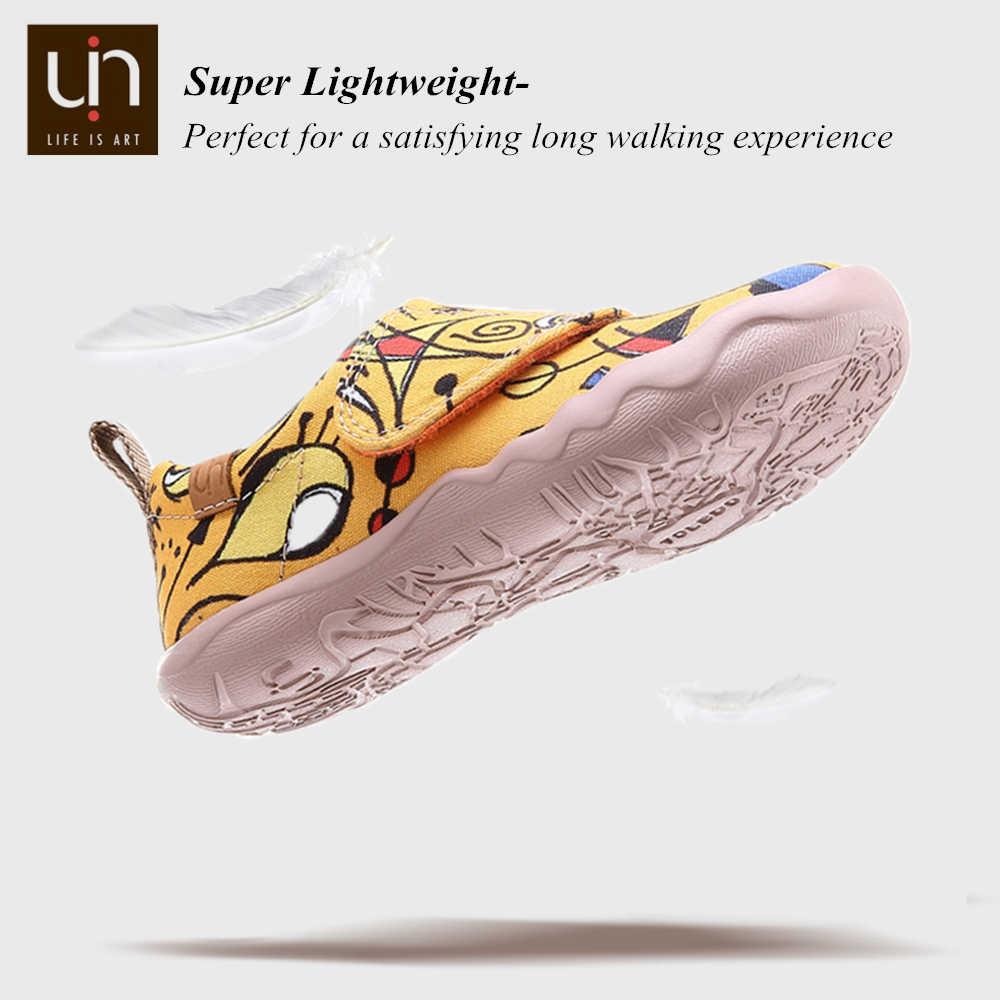 UIN Art ทาสีเด็กเล็กผ้าใบรองเท้า Easy Hook & Loop รองเท้าผ้าใบสำหรับชาย/หญิงสบายเด็กรองเท้าแฟชั่นน้ำหนักเบา