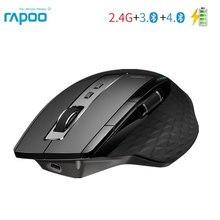 Rapoo 2.4G Wireless Mouse Ricaricabile Multi Mode Bluetooth Mouse per Ufficio Affari