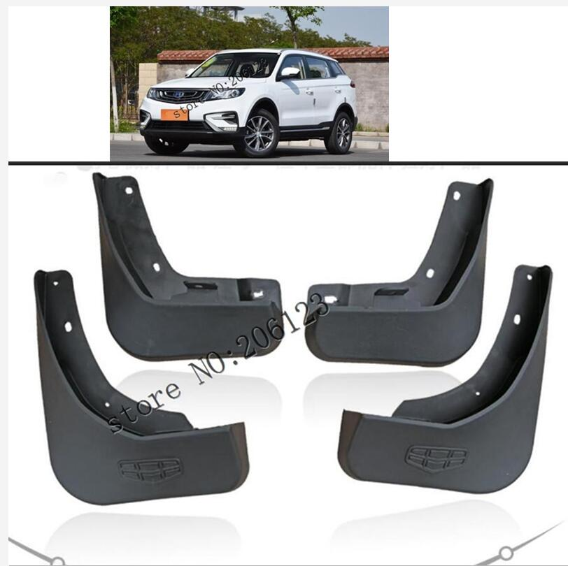 4pcs Molded Mud Flaps For <font><b>Geely</b></font> <font><b>Atlas</b></font> 2016 - 2018 <font><b>2019</b></font> Mud Guards Splash Guards Fender Mudguards Mudflaps NL-3 Proton 2017 image