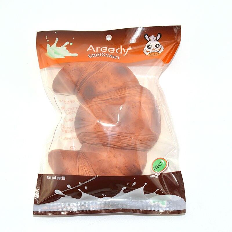 1 STK Opskalere Areedy Squishy Croissants Super Slow Rising Duftende original pakke