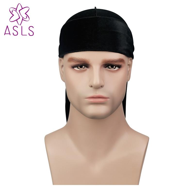 Beautiful Premium Mens Leaves Print Velvet Durags Bandanas Headwear Men Durag Turban Hat Headband Hair Cover Accessories Waves Cap Factory Direct Selling Price Men's Accessories Men's Headbands