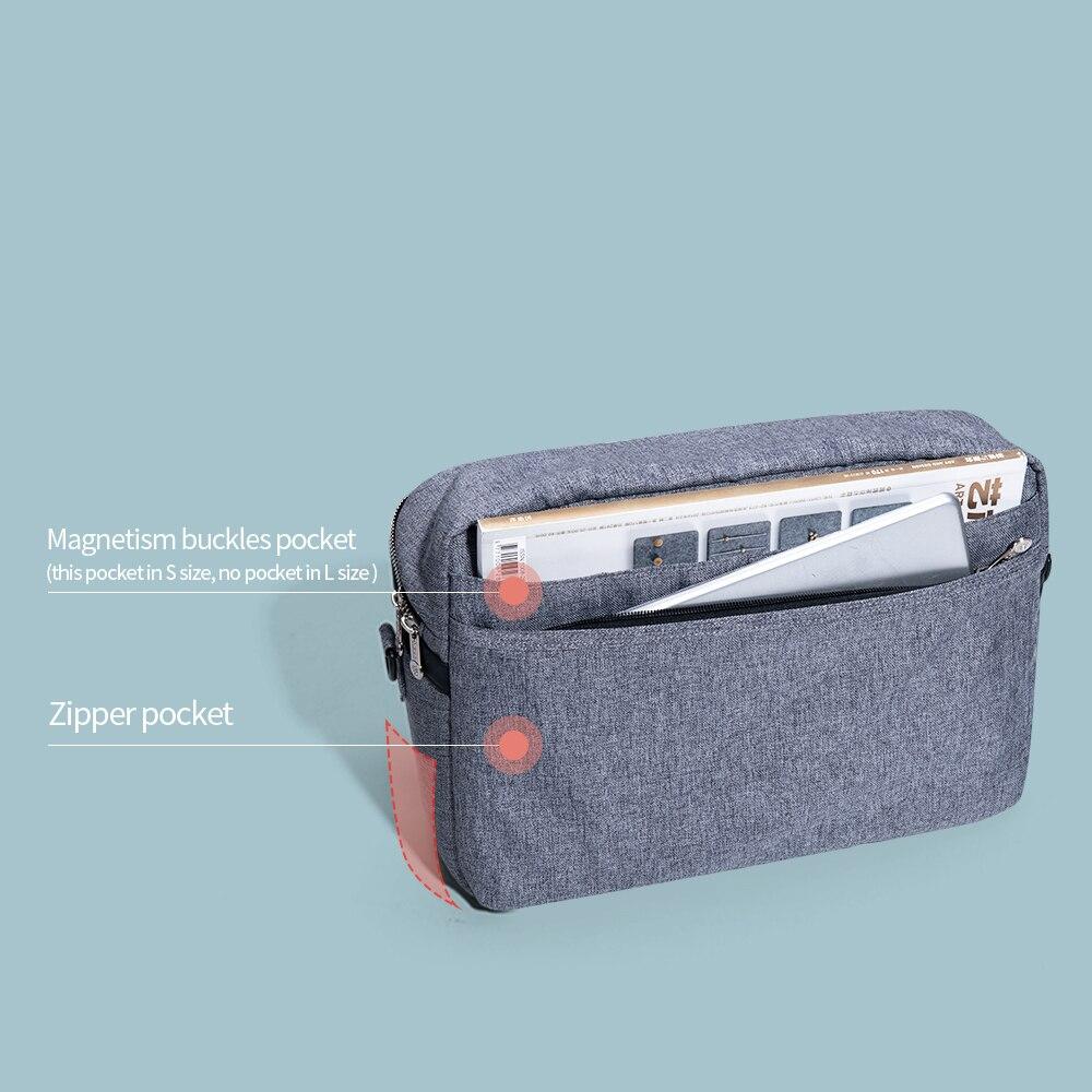 SUNVENO sac à couches pour bébé sac à couches organisateur de poussette sac de bébé maman voyage suspendu landau Buggy chariot bouteille sac - 6
