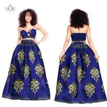 c519d2a1aa6 Fashion African Dresses for Women Bazin Riche 2017 New Java Sexy Strapless Dresses  Dashiki Kanga Ankara
