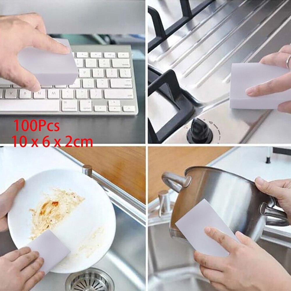 100 P S Lote Pr Tico Esponja Suja Cleaner Eraser Pratos Para Casa