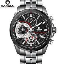 Marca de relojes de lujo hombres reloj de cuarzo de acero inoxidable al aire libre deportes cronómetro impermeable 100 m reloj de los hombres CASIMA moda #8303