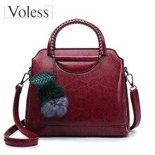 Women Casual Handbags High Quality Oil Wax Leather Female Shoulder Bag Designer Ladies Vintage Crossbody Bags Bolsa Feminina