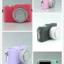 Хороший мягкий силиконовый резиновая камера тела защитный чехол кожи Камера сумка для Panasonic GF9 GF9 кожаный мешок камеры
