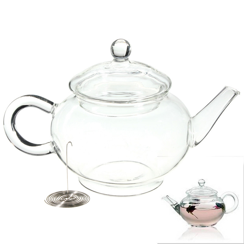 Practical 250ml 8 5oz Borosilicate Glass Teapot Heat Resistant Bottle Cup For Blooming tea Herbal Coffee