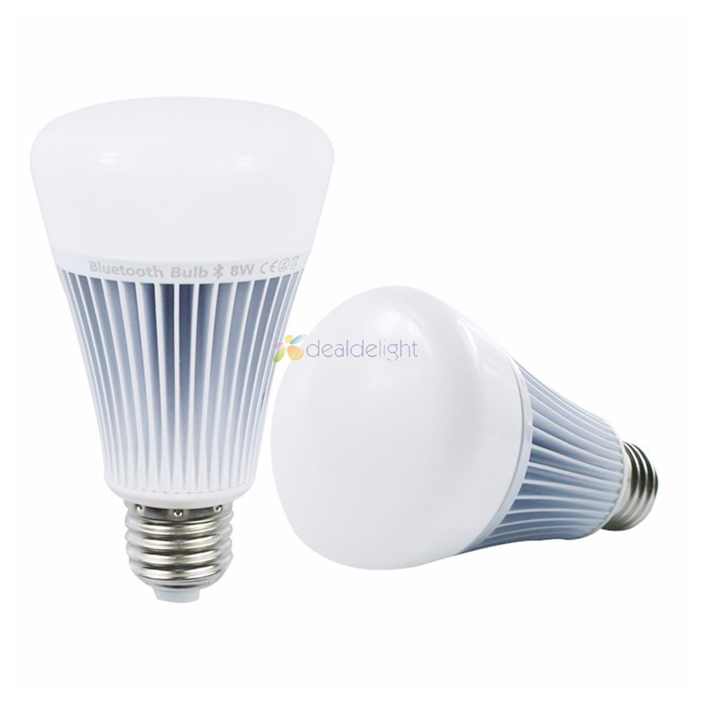 MiLight Wireless Bluetooth 4.0 Control Smart Bulb 8W RGB+CCT Color Temperature adjust E27 Led Lamp 85-265V Work On iOS Android 2 4g milight e27 9w wireless smart cw wwled lamp bulb 2 4g rf cct dim remote control for good reputation