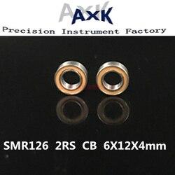 AXK SMR126 CB LD A7 SMR126 2RS CB Гибридный Керамический шарикоподшипник из нержавеющей стали ABEC7 6x12x4 мм SMR126 2OS подшипники с рыбной катушкой