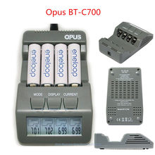 Original Opus BT-C700 NiCd NiMh LCD Digital Intelligent AAA 14500 AA Battery Charger Updated From BM110 EU US Adapter BT C700(China)