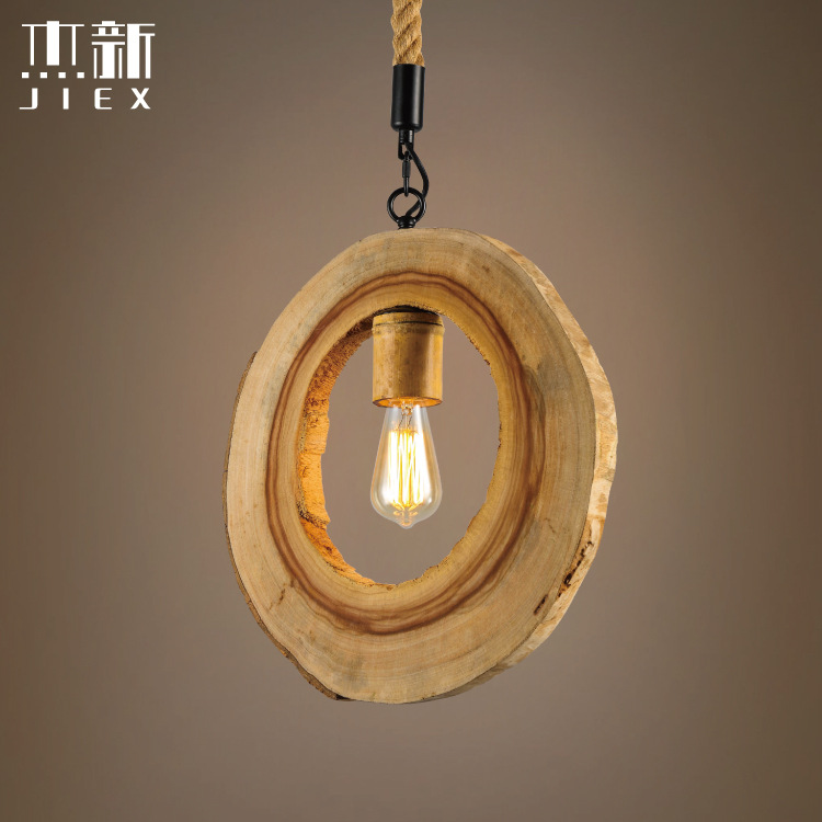 Vintage Circular hollow trunk Pendant Lamp Retro Hanging Lamp Lampshade For Restaurant /Bar/Coffee Shop Home Lighting LuminariasVintage Circular hollow trunk Pendant Lamp Retro Hanging Lamp Lampshade For Restaurant /Bar/Coffee Shop Home Lighting Luminarias