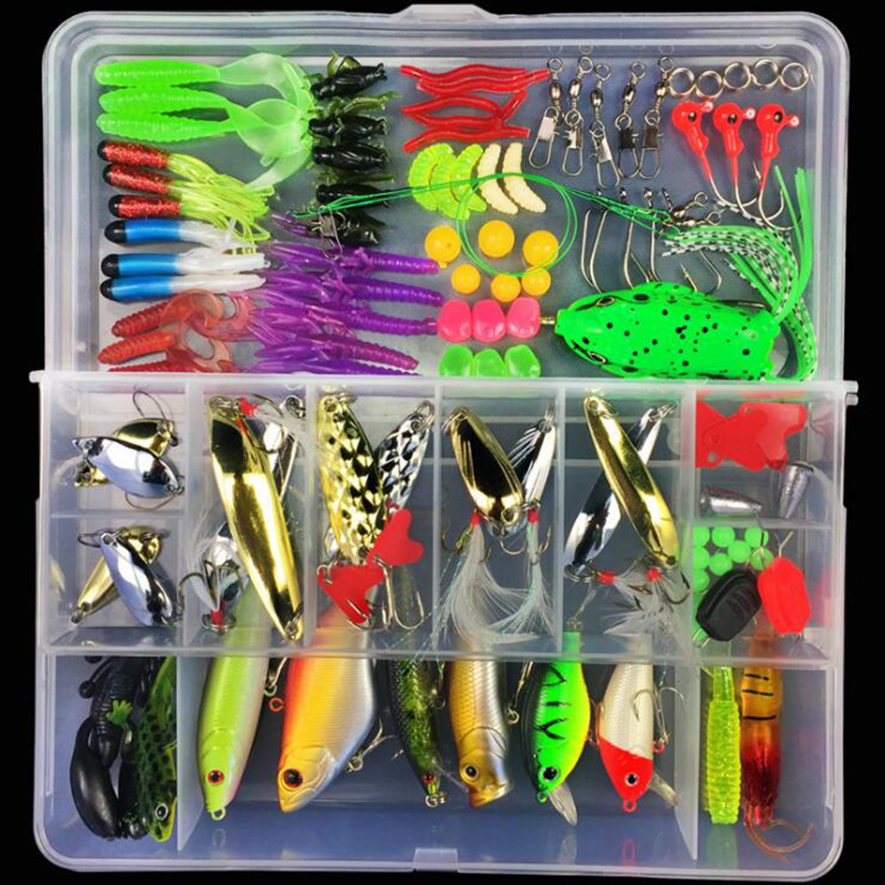 Four kinds All kinds of Fishing Bait Accessories Soft Worm Carp Fishing Bait Set + 10 Lead Head Hooks Jig Kit Suite Simulation