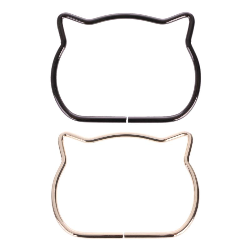 8x0.5cm Cute Cat Ear Metal Bag Handle Replacement For DIY Shoulder Bags Making Handbag
