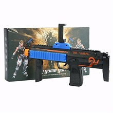 BLUELOONG 2017 AR Game Gun Plastic Material Virtual Reality Toys Bluetooth 4.0 Compatible With IOS And Android Phone Holder Gift