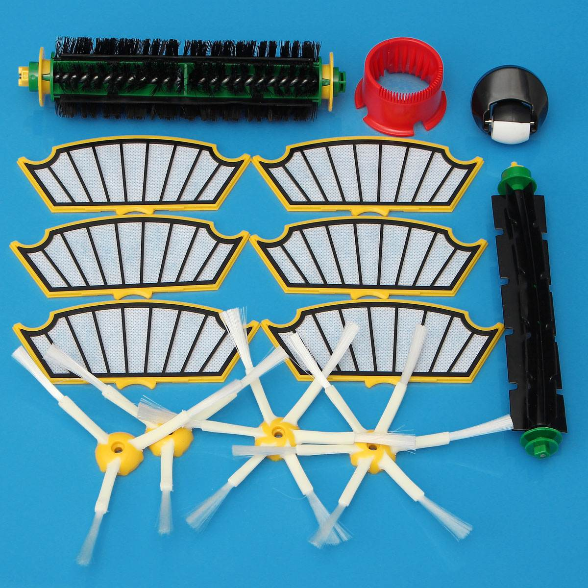 14Pcs Replacement Filter Bristle Brush Round Cleaning Tool Vacuum Cleaner Accessories Kit For iRobot Roomba 500 Series 510 530 vacuum cleaning kit attachement kit dusting dusting brush nozzle crevices tool upholster tool for 32mm