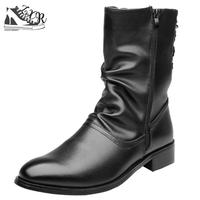 Autumn Winter New Men's Boots British Wind Retro Men's Shoes Real Leather Martin Boots Sell Well Fashion Zipper Casual Boot