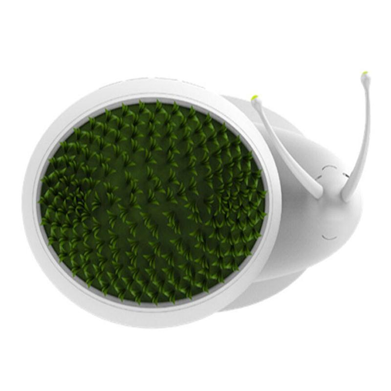 Snail Led Night Light DC 5V USB Charging Plant Potting Lamp Home Decoration (Yellow Light)