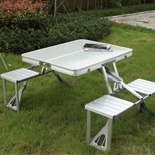 Портативный складной стол и стул для пикника на открытом воздухе складной стол из алюминиевого сплава стулья