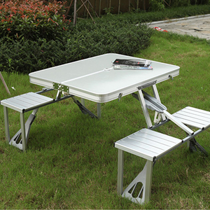 Image 1 - Portable Folding Table And Chair Outdoor Picnic Foldable Aluminum Alloy Desk Chairs
