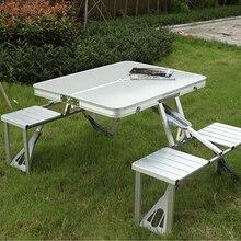 Taşınabilir katlanır masa ve sandalye açık piknik katlanabilir alüminyum alaşımlı masa sandalye