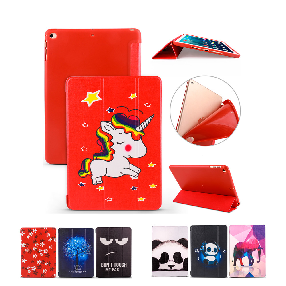 Smart Cover For iPad Air 1 Air 2 Silicone Soft Back Pu Leather tablets Case for iPad new 9.7 inch 2017 2018 6th generation