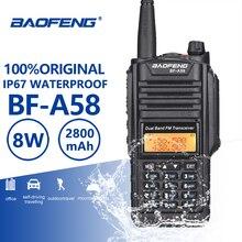 Baofeng BF-A58 Walkie Talkie IP67 Водонепроницаемый UHF VHF радио Dual Band A58 двухстороннее приемопередатчик Woki токи Baofeng UV-9R плюс