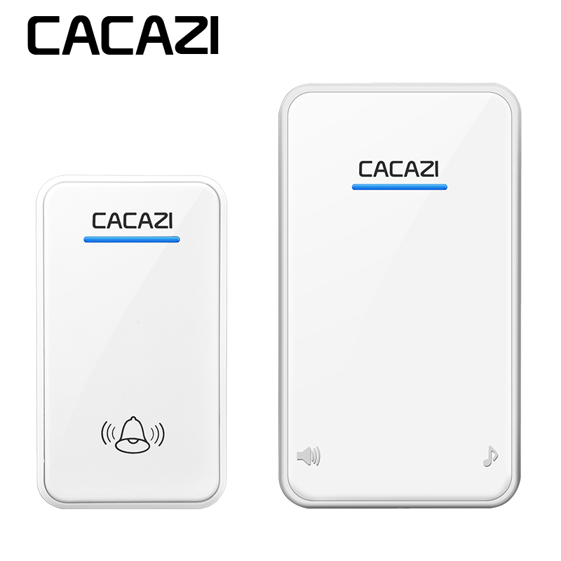 CACAZI Wireless Doorbell waterproof Battery Button LED Light 300M Remote Home Cordless Call Bell 48 Chime 6 Volume UK PlugCACAZI Wireless Doorbell waterproof Battery Button LED Light 300M Remote Home Cordless Call Bell 48 Chime 6 Volume UK Plug