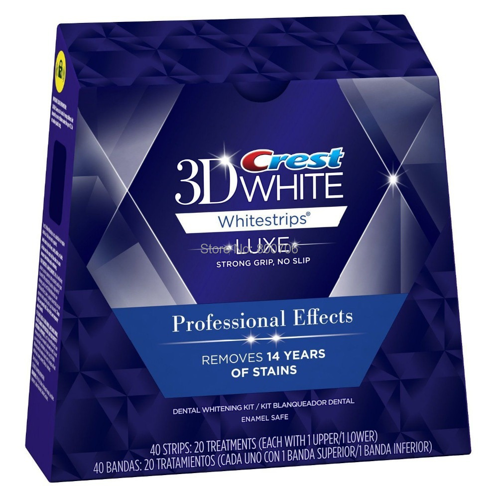 40 Strips 20 Pouches / 1 Box Crest 3D White LUXE