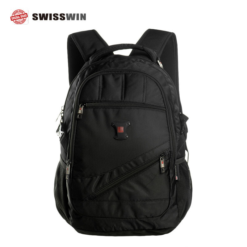 Swisswin swiss army bag waterproof male laptop backpack men travel bags waterproof 15.6 inch notebook mochila school bag SW9330 dispalang personalized geometric backpack for laptop notebook school bags for college students men s travel bag rucksack mochila