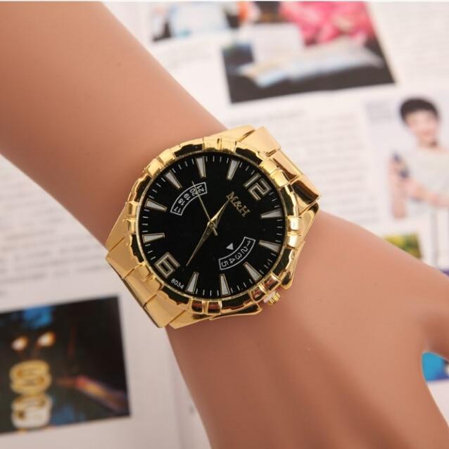New luxury brand man casual watch men's quartz gold watch men full...