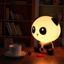 Muito Bonito Panda Urso Animal Dos Desenhos Animados do Quarto Do Bebê Luz da Noite Luz Lâmpada de Mesa Do Quarto de Dormir Noite Lâmpada Melhor para Presentes