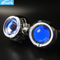 RONAN 3.0'' HID Lens With 95MM COB DRL Angel Eyes for projector headlight H1 H4 H7 Car Styling for BMW/Audi/Toyota