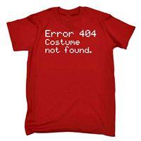 Men's Error 404 Costume Not Found Funny Joke Halloween Geek Nerd IT T SHIRTCheap wholesale tees,T shirt printing