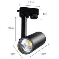 Fanlive 8pcs COB 7W 10W 15W Track Lamp Spot Light LED Rail Track Lighting AC85 265V Living Room Lights Black White Housing