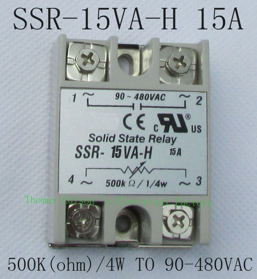 Hot Sale Dmwd Solid State Relay Ssr 15va H 15a Actually 500kohm 4w For Ac To 90 480v Resistance Type Voltage Regulator