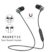 Bluetooth Earphone Wireless Headphones Running Metal Magnetic Wireless Bluetooth Earphone Sports Earphone for Phone Android IOS yeindboo newest wireless headphones sports bluetooth earphone stereo magnetic bluetooth headset for phone xiaomi iphone android