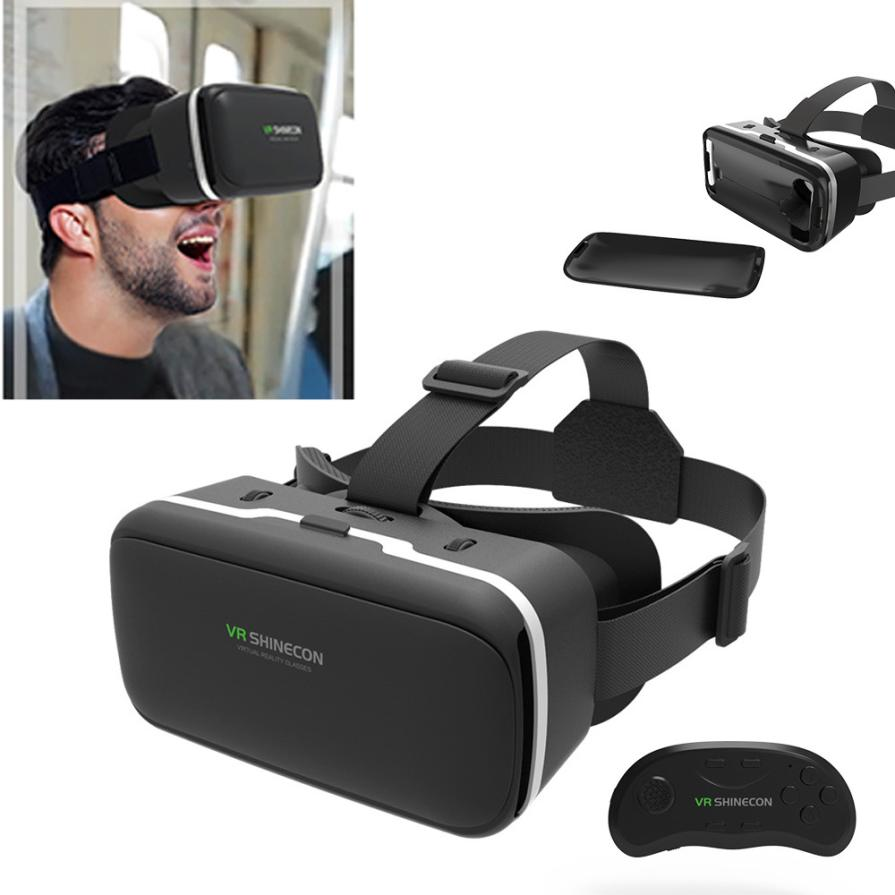 2017 Top SALE VR SHINECON 2.0 VR Box Virtual Reality 3D Glasses Cardboard Movie Game For iPhone 6s/7 for Samsung S5/S6/S6 Edge