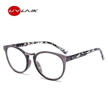 UVLAIK Printed Legs Reading Glasses Spring Hinge Rectangular Fashion Presbyopic Reading Glasses Frame 1.5 2.0 2.5 3.0 3.5 4.0