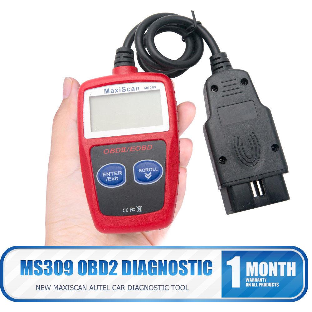 Ferramenta de Diagnóstico do carro OBD2 MS309 2 OBD EOBD Melhor ELM327 do Scanner Automotivo Motor Código de Falha Reader Scan Ferramentas