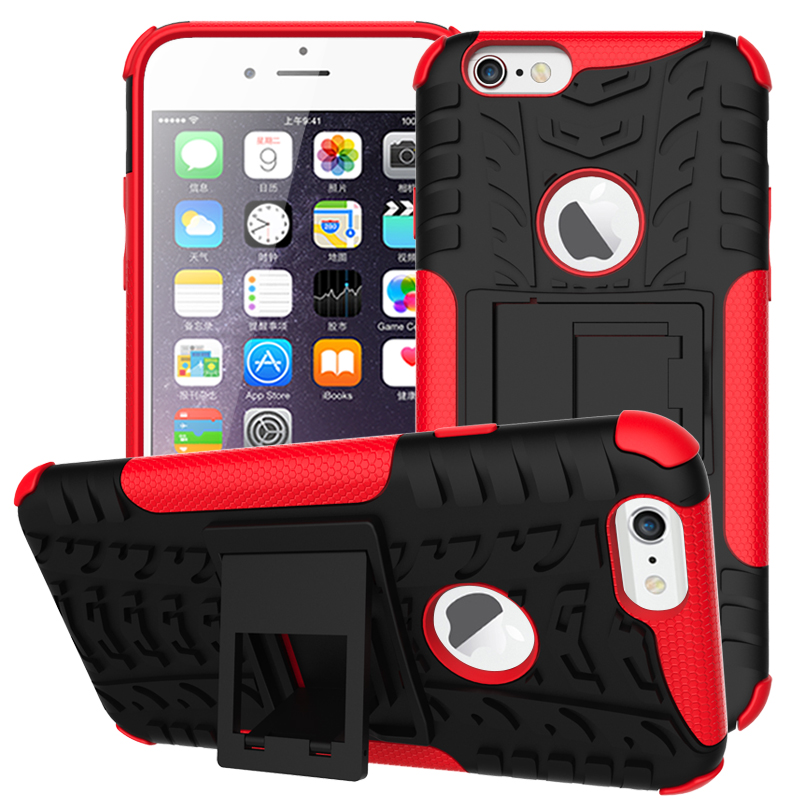 Rugged Rubber Armor Hard PC+TPU Stand Function Cover Cellphones & Telecommunications iPhone Cases/Covers Mobile Phone Accessories Phone Covers