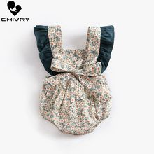 Chivry 2019 Baby Girls Bodysuit Summer Sleeveless Floral Print Cute Jumpsuit Newborn Playsuit Infant Clothes