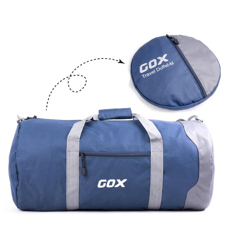 60L Large Capacity Foldable Men Travel Bags Hand Luggage Duffle Bag Waterproof Nylon Weekend Bags Portable Shoulder Bag 60l fashion large waterproof men travel bags backpack travel mountaineering backpack bag nylon luggage bags