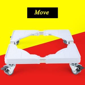 Image 4 - Suporte móvel para máquina de lavar, suporte ajustável para base móvel para geladeira universal