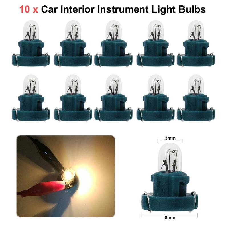 VODOOL 10Pcs T3 LED 12V Car Auto Interior Instrument Lamp Light Bulbs Dashboard Lamps Auot Car Accessory Car Lights Signal Lamp