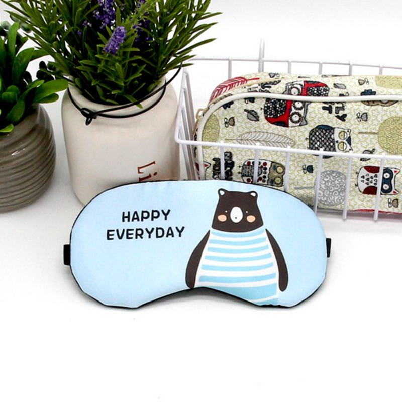 5bc0db6d8fe Sleeping Mask Eyepatch Eye Cover Cotton Creative Lovely Cartoon for Eye Cat Panda Dog  Travel Relax Sleeping Aid MP0107-in Sleep   Snoring from Beauty ...